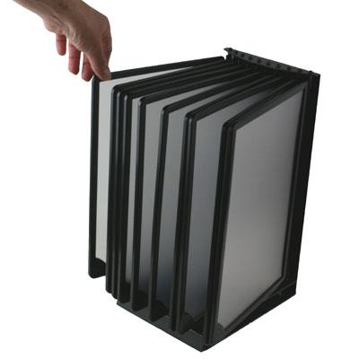 A4 Black Counter Top Flip Display