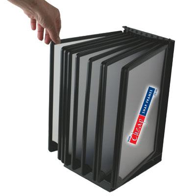 A4 Flip Display T10 Black Counter Top